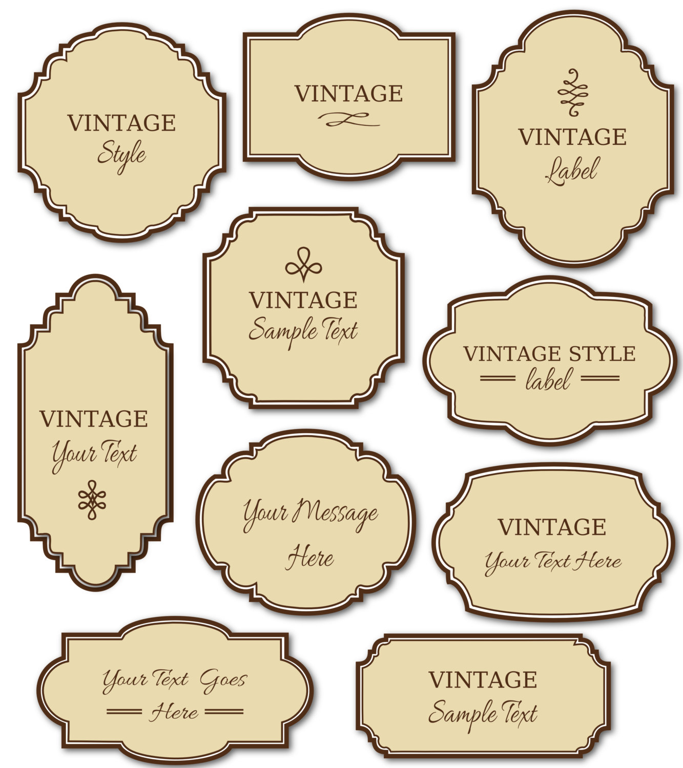 Vintage Wedding Gift Tag Templates Free : Vintage Labels Clipart - Clipart Kid