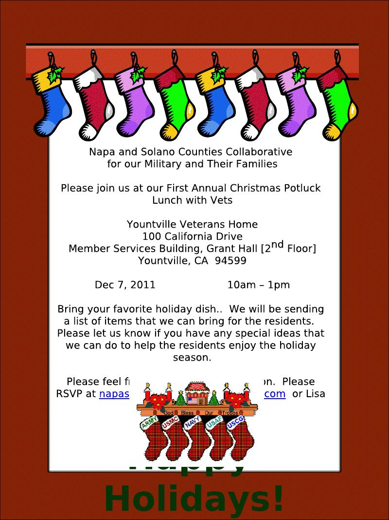 Solano Counties Collaborative   First Annual Christmas Potluck Lunch