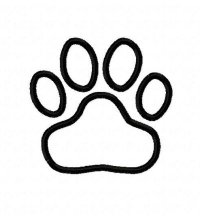 Tiger Paw Print Outline Car Pictures