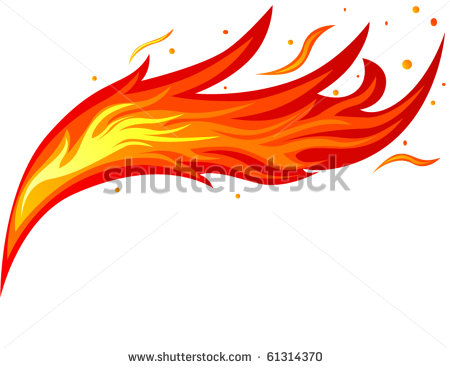Tongues Of Fire Clip Art Fire Tongue   Stock Vector