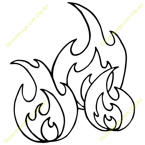 Tongues Of Fire Clip Art Three Tongues Of Fire