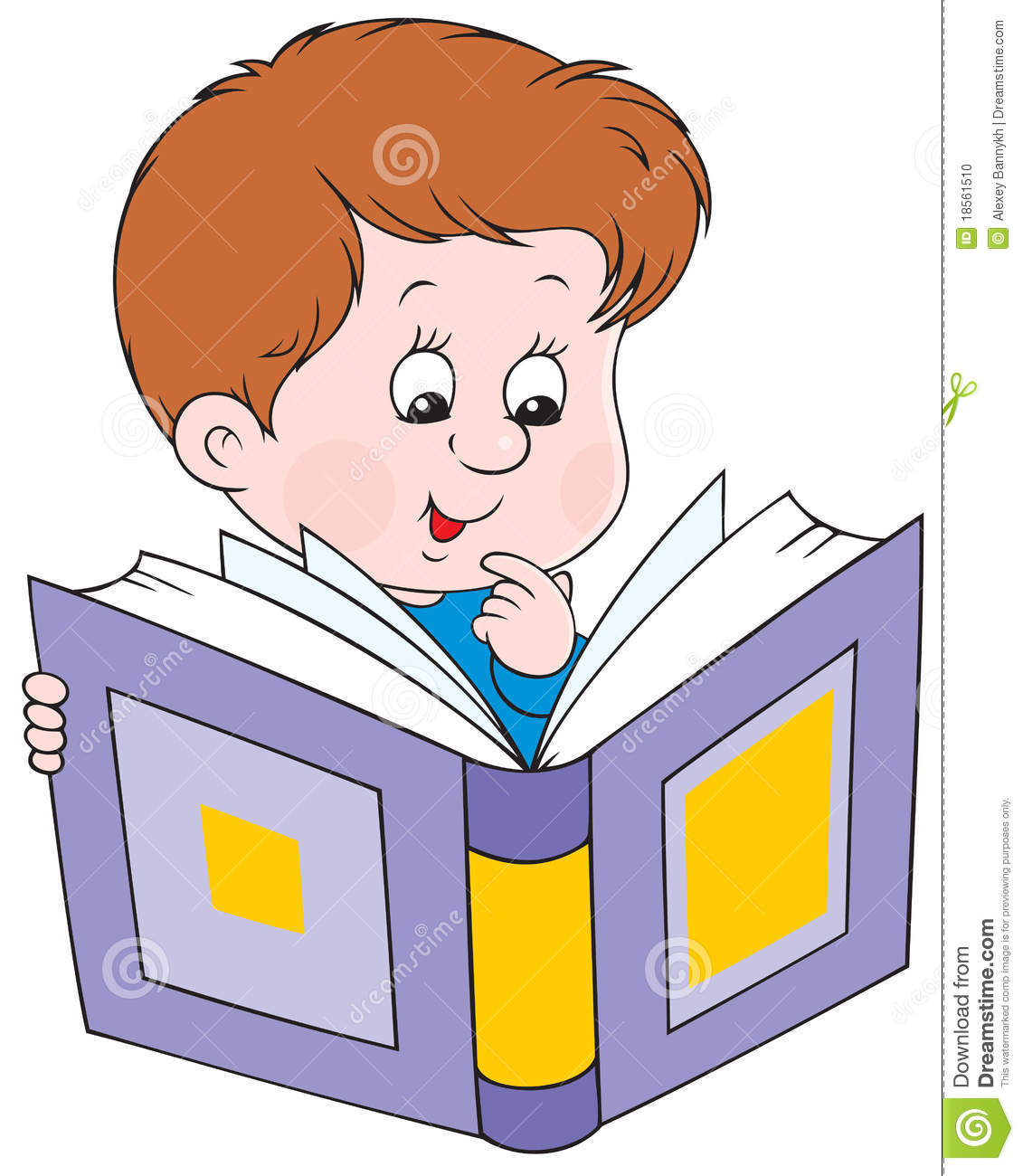 Boy Reading Book Clipart - Clipart Suggest
