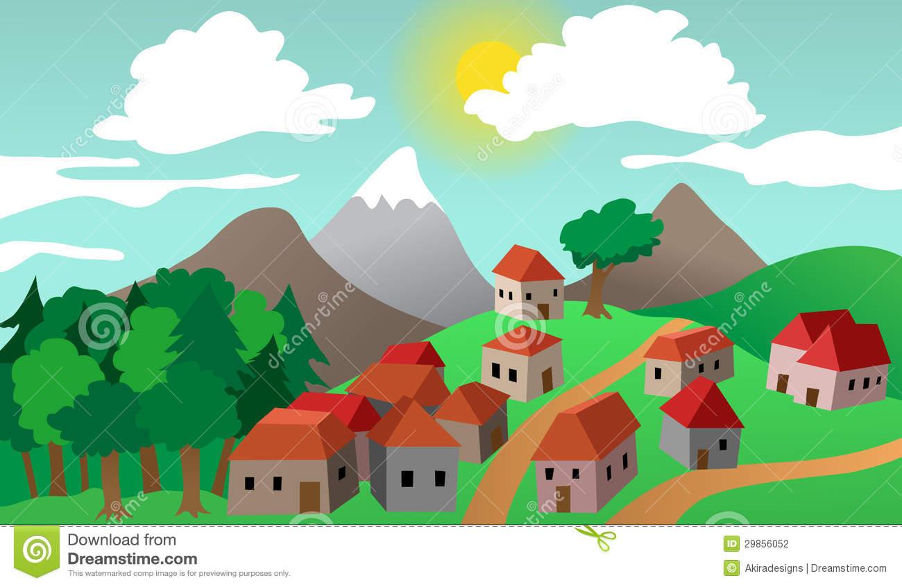 clipart of village - photo #26