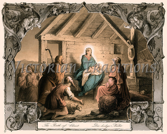 Vintage Nativity Scene Clipart - Clipart Suggest