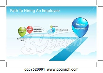 An Image Of A Employee Hiring Process Chart   Clipart Gg57520061