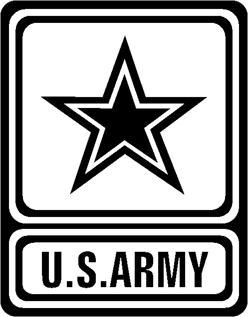 U.s. Army Logo Black And White Clipart - Clipart Kid