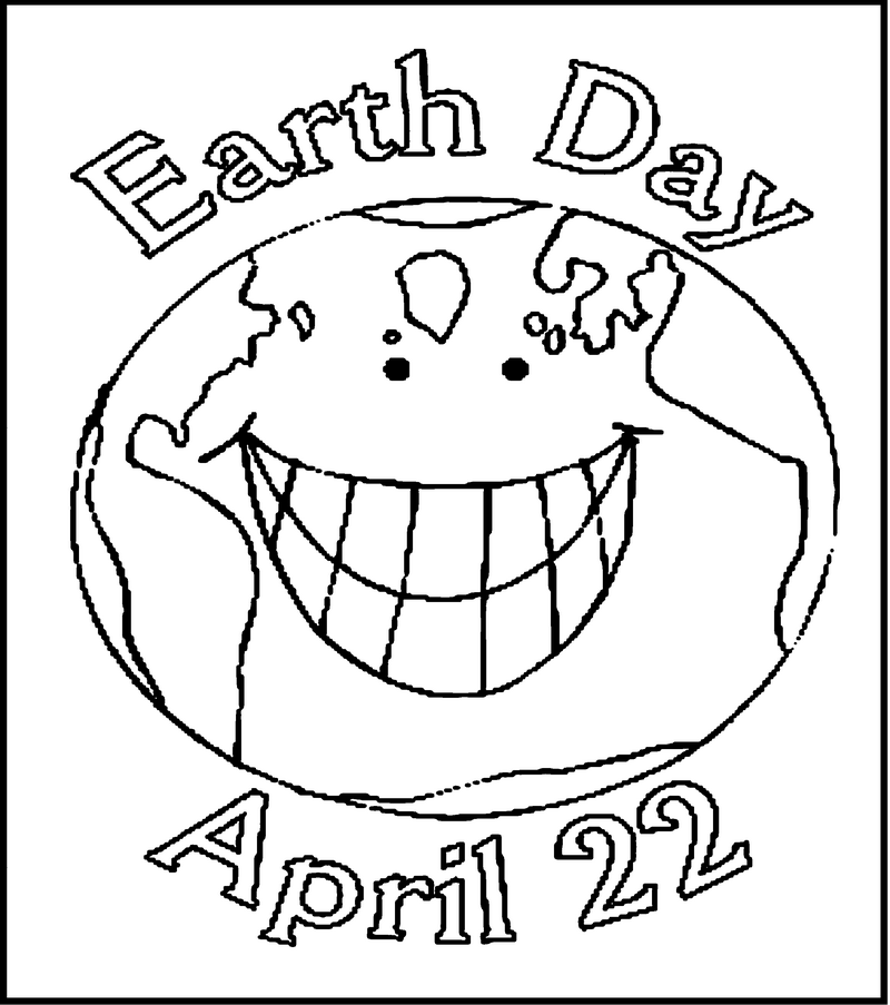 Beautiful Earth Day Clip Art Black And White For Your Children To