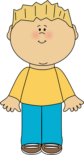 Blond Boy Clip Art Image   Boy With Blond Hair Wearing A Tshirt And