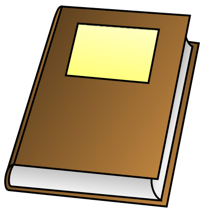 Book Clipart   Public Domain Brown Book Clip Art Images And Graphics