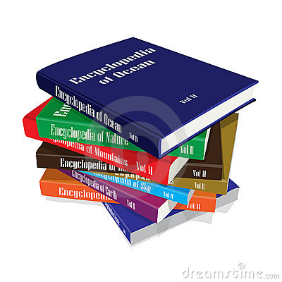Bundle Of Encyclopedia Books Stock Image   Image  7434201