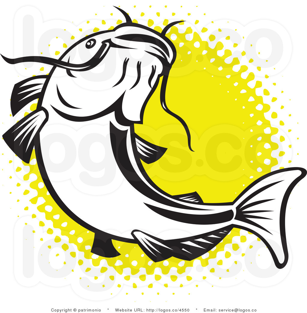 Clip Art Catfish Clipart catfish clipart kid royalty free over yellow logo by patrimonio
