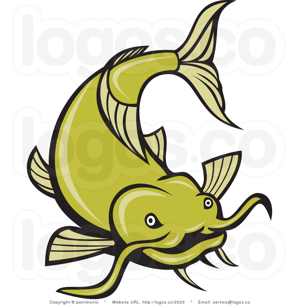 Clip Art Catfish Clipart catfish clipart kid royalty free green vector logo 2 by patrimonio