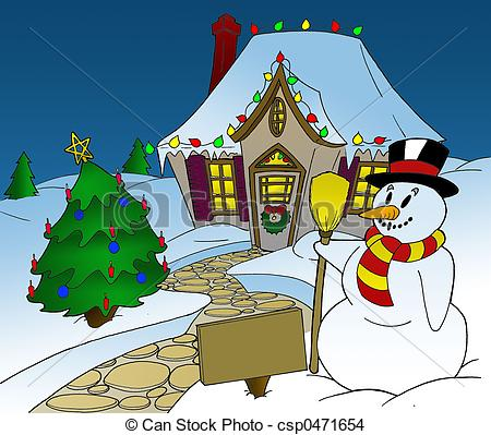 Christmas Lights House Clipart   Cool Eyecatching Tatoos