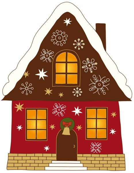Christmas Painted House Png Clipart   Christmas   Pinterest
