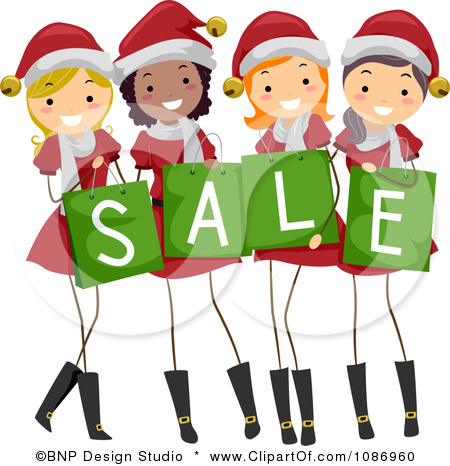 Christmas Shopping Clip Art