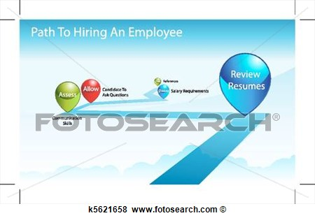 Clip Art   Path To Hiring An Employee  Fotosearch   Search Clipart