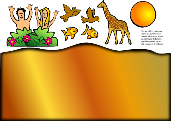 Creation Scene Giraffe Clip Art At Clker Com   Vector Clip Art Online