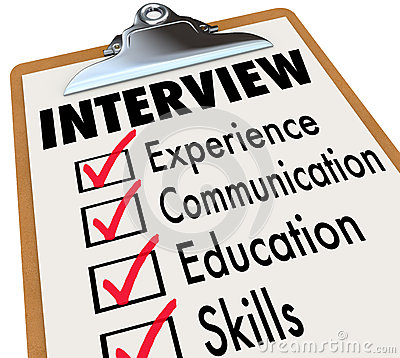Employment Interview Clip Art Interview Checklist Job