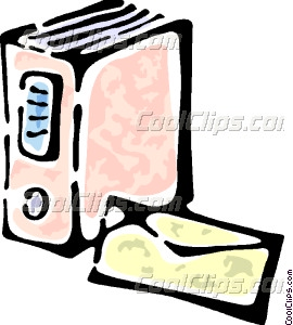 Encyclopedia And A Envelope Vector Clip Art
