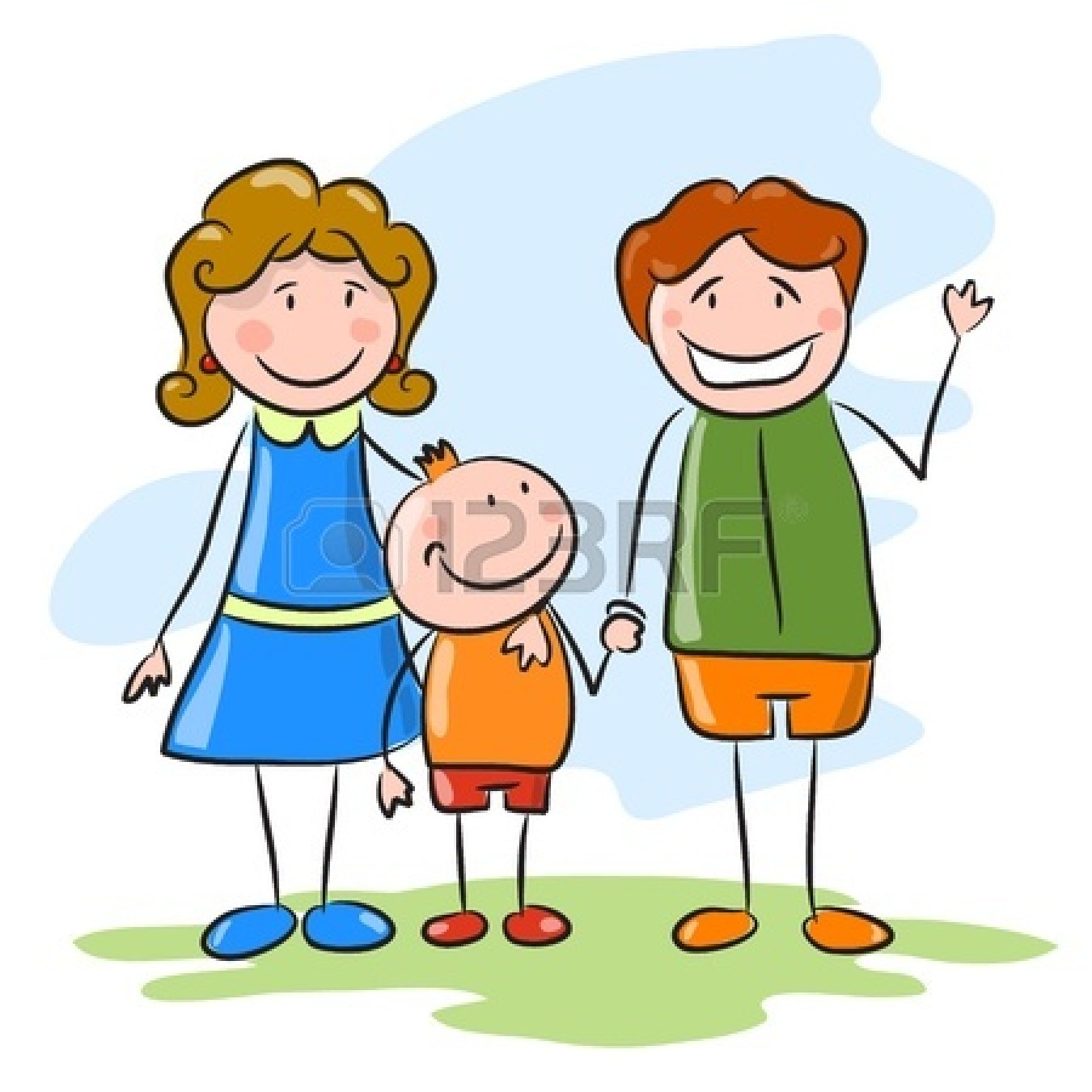 Happy Family Cartoon Clipart - Clipart Suggest