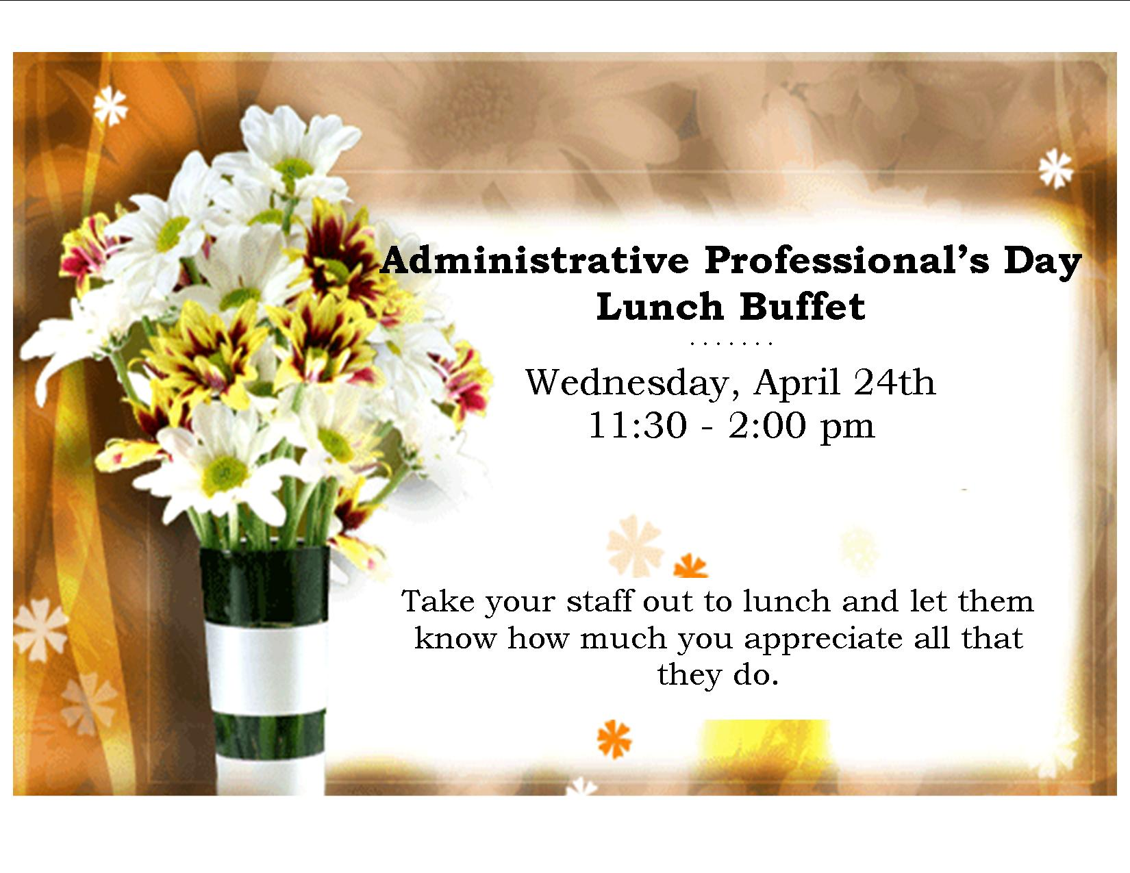 Administrative Assistant Day Luncheon Ideas | just b.CAUSE