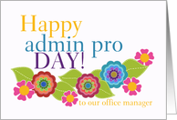 Happy Administrative Professionals Day Office Manager Happy
