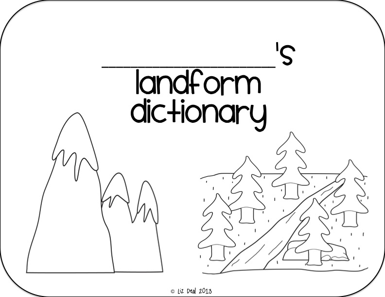 valley landforms coloring pages - photo#30