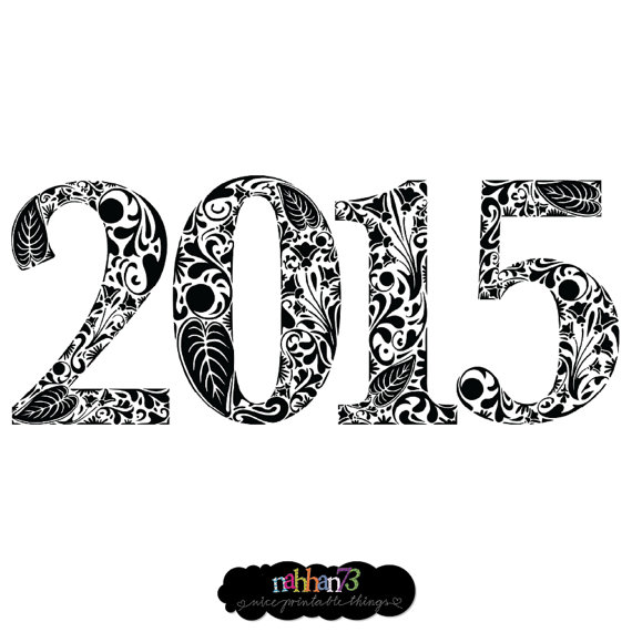 Items Similar To New Year 2015   Image Download Sheet Transfer To