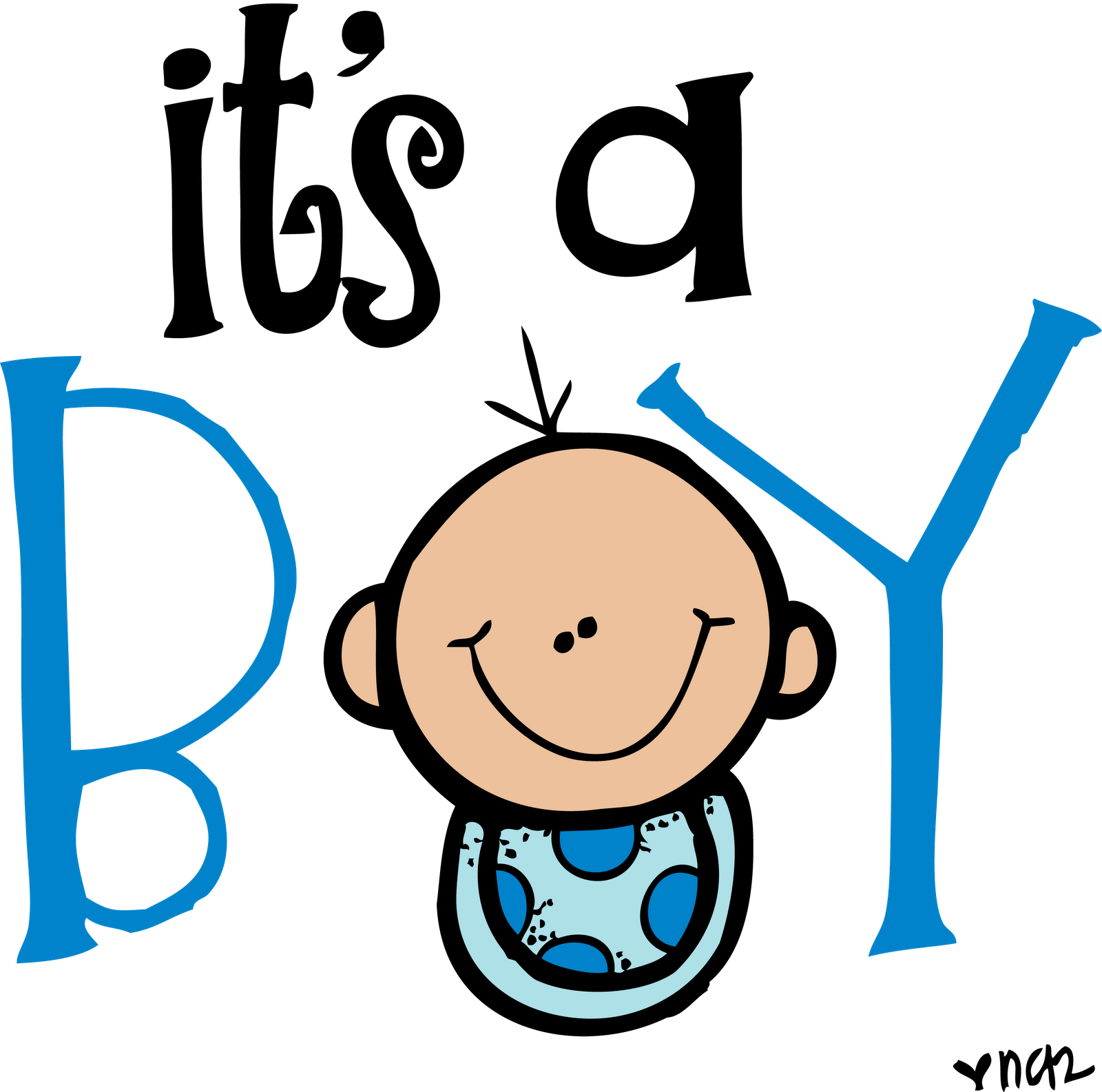 Its A Boy Colored Png #vDmZIM - Clipart Kid
