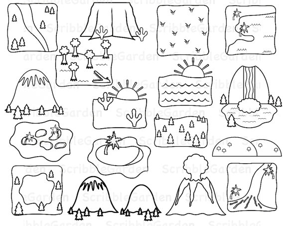 plains landform black and white clipart clipart suggest