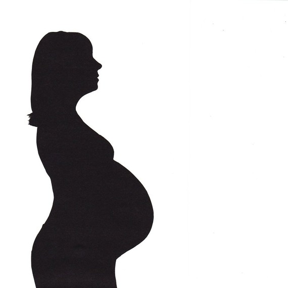 Pregnant Belly Silhouette Clip Art Pictures