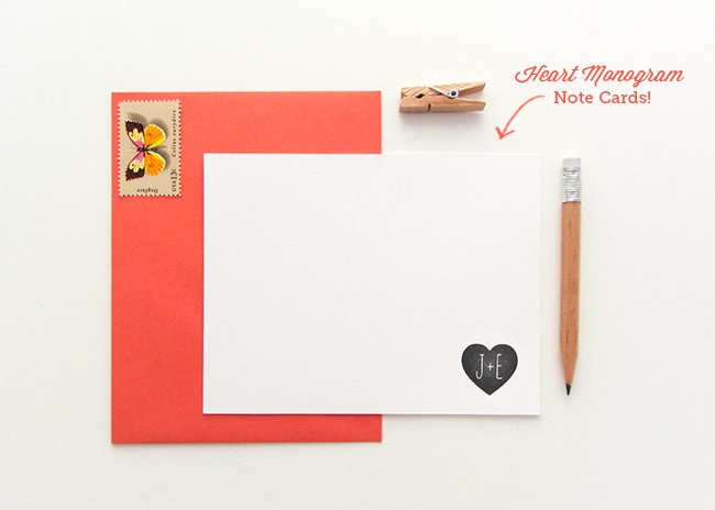 Press  Heart Monogram Note Cards    Clipart   Graphics   Pinte