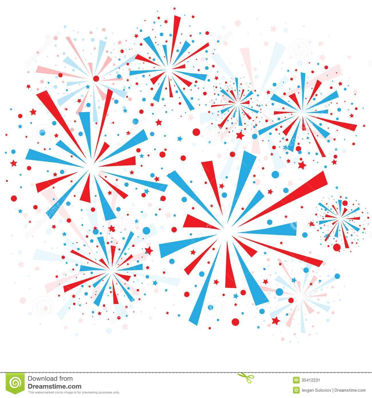Red And Blue Fireworks On White Background Eps10 Mr No Pr No 3 1151 7
