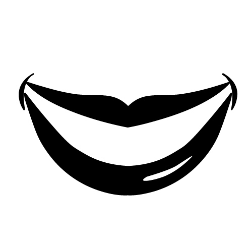 Mouth Black And White Clip Art