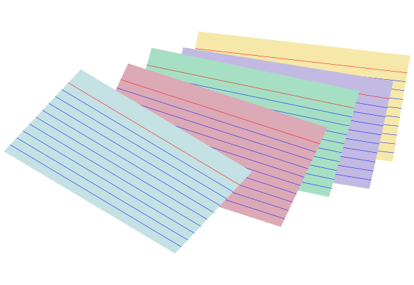 Stack Of Colored Index Cards Clip Art Png
