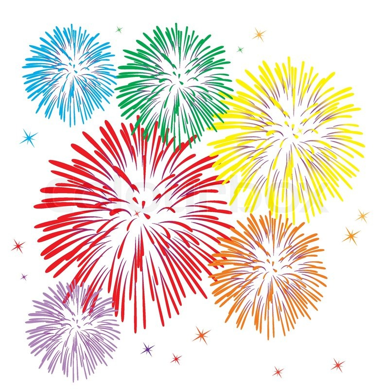 Stock Vector Of  Vector Colorful Fireworks On White Background