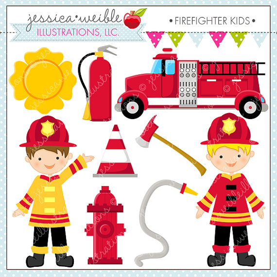 Simplified Firefighter Truck Clipart - Clipart Kid