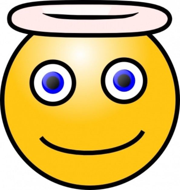 595 X 626   55 Kb   Jpeg Angel Smiley Face Clip Art