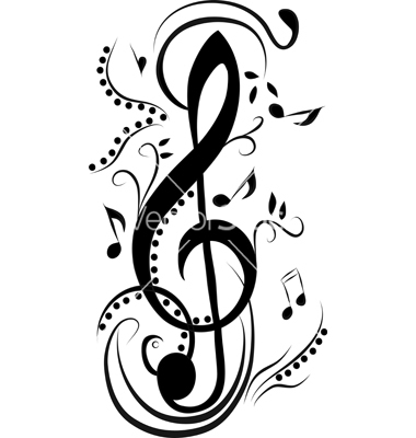 Abstract Treble Clef Vector Art   Download Melody Vectors   2010877