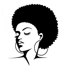 Afro Silhouette Clip Art   Afro Silhouette Clip Art Http   Www Pic2fly
