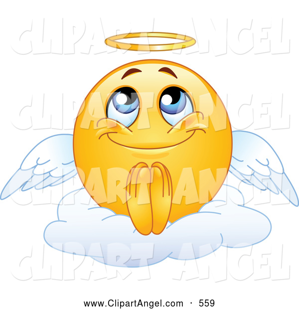 Angel Smiley Face Clip Art