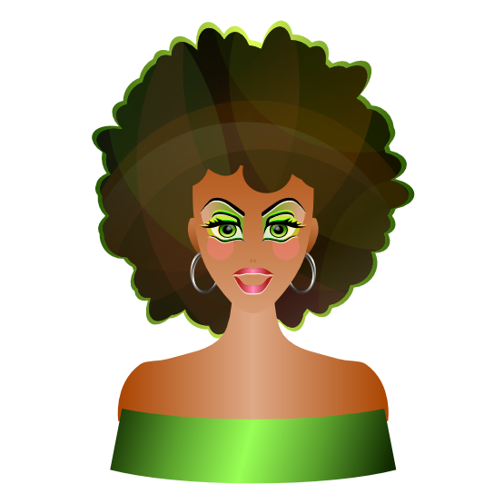 Clipartist Net   Clip Art   Afro Girl Clipartist Net Svg