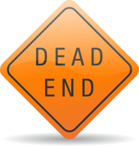 Dead End Sign Clip Art At Clker Com   Vector Clip Art Online Royalty
