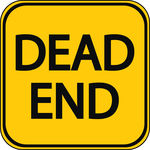 Dead End Sign Vector Clipart Royalty Free  128 Dead End Sign Clip Art