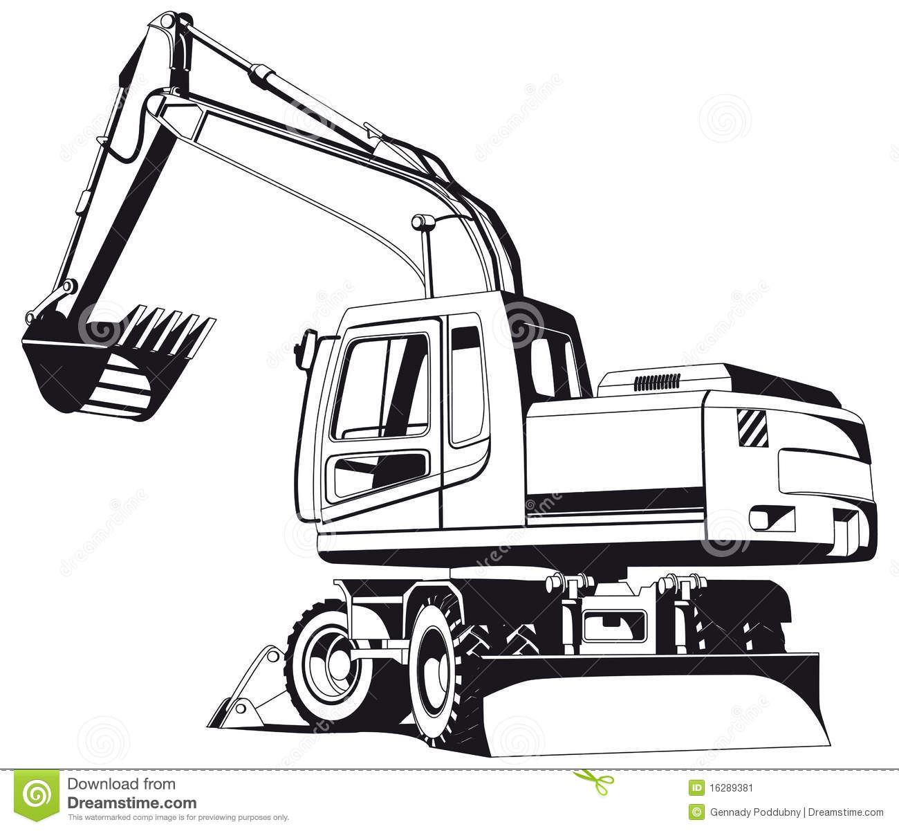 Go Back   Pix For   Digger Clip Art Black And White