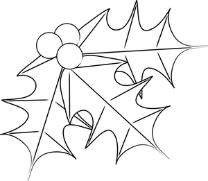 Christmas Coloring Page Clipart - Clipart Kid