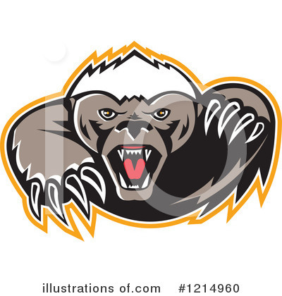 Honey Badger Clipart  1214960 By Patrimonio   Royalty Free  Rf  Stock