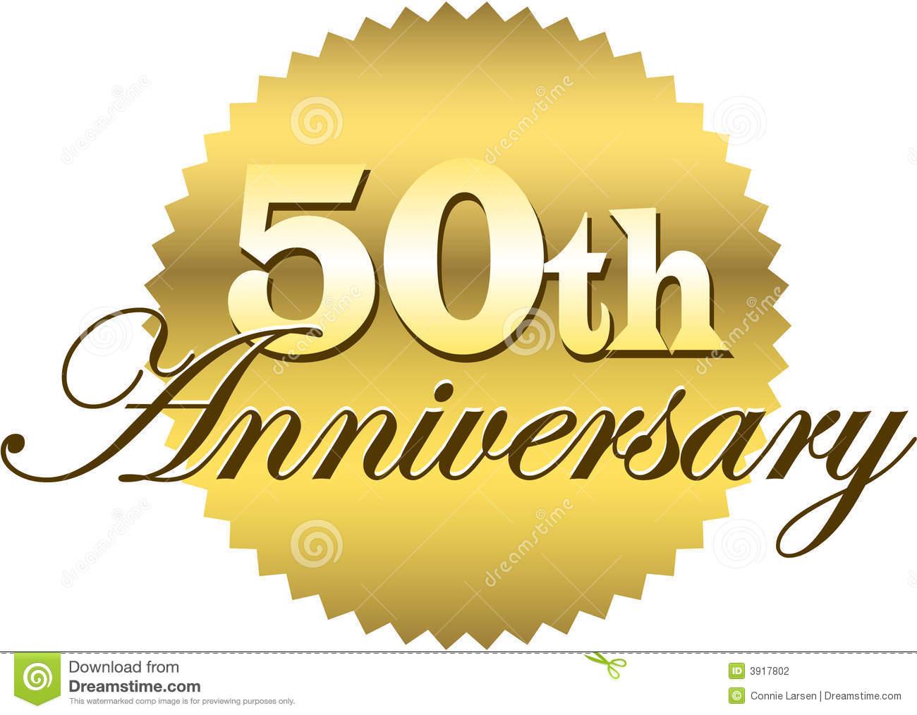 Golden Wedding Anniversary Clipart - Clipart Suggest