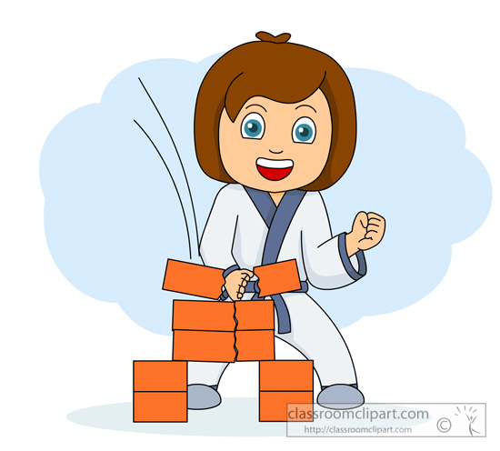 karate girl clipart clipart suggest