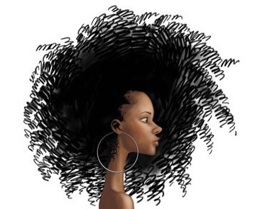 Natural Hair Clip Art